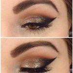 Glamouröse Augen Make-up Designs für braune Augen