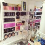 Gorgeous makeup display using a nail polish rack
