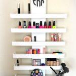 Wall Mounted Makeup Shelf, Makeup Organizer,Cosmetic Shelf, Nail Polish  Holder, Make up shelf, Monogramed Makeup Organizer, Lipstick Holder