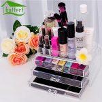 Transparent Make-Up Veranstalter Aufbewahrungsbox Acryl Make-Up  Veranstalter Cosmetic Organizer Makeup Schubladen Veranstalter