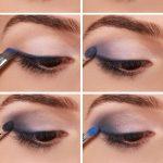 smokey eyes schminken für braune Augen lila blau grau #beauty #makeup