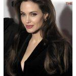 Angelina Jolie Long Lace Front Schwarze gewellte Remy Echthaarperücke  #celebrityphotos