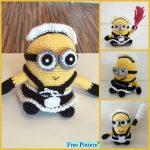 Super Cute Crochet Minion Character- Free Patterns #freecrochetpatterns # minion #giftidea