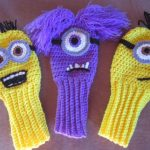 New Hand crocheted minion inspired golf club door BarbsCustomCrafts