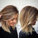 Nettes Haar mittlerer Länge - Frisuren 2019