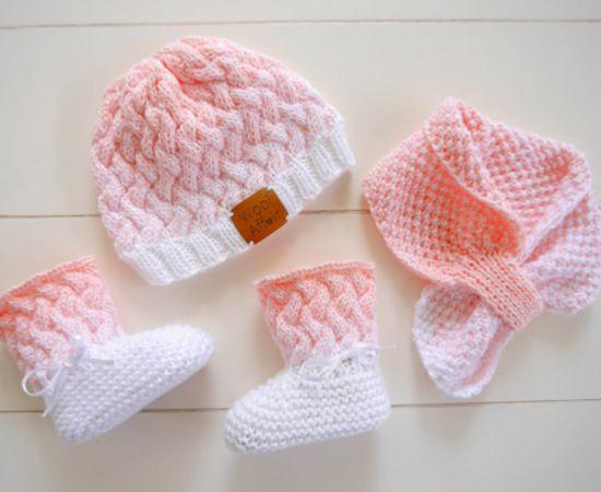 Moderne häkeln Baby Mütze