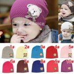 2019 neugeborene häkeln hüte Neugeborenes Baby 2-6M Infant Mädchen Mädchen  Jungen Polka Dot Bear