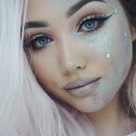 Magische Meerjungfrau Make-up für niedliche Halloween Make-up-Ideen