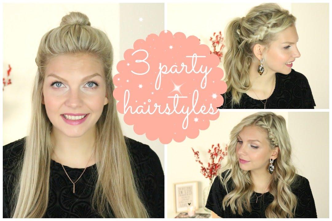 Machen Sie sich mit   interessanten und süßen Party-Frisuren auf die Party gefasst
