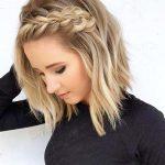 kurze Hairtyle für Abschlussball, Balayage Blonde Haare Hairtyles
