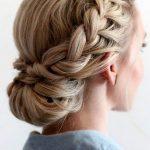 Prom geflochtene Hochsteckfrisuren für lange Haare frisuren