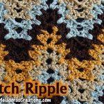 V Stitch Ripple Crochet Stitch – Free Crochet Pattern