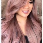 Rose Gold Haarfarbe 2018