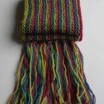 Strickanleitung für einen Schal längs gestreift - Dornröschen-Wolle.de