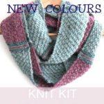 Schal stricken Kit, stricken einfaches DIY Kit, schottischen Tartan- schalmuster, Damen Mode Schlauchschal, Valentinstag Geschenk für Sie
