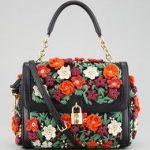 V1DVV Dolce & Gabbana Dolce signorina Rafia Fiore Lucchetto Flap Satchel  Schöne Taschen, Häkeln Ideen