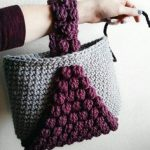 PATTERN: Crochet Tote Bag Pattern Bobble Tote crochet purse Taschen  Häckeln, Musterentwurf, Stricken