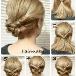 Schöne Haarknoten, um   glamourös auszusehen