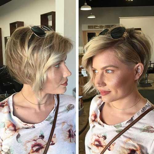 Dickes Haar kann geschnitten   werden, um sexy mittlere Frisuren aufrechtzuerhalten