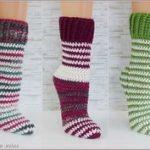 Häkeln Dicke Wolle, Strumpf Häkeln, Dicke Socken, Stricken Einfach,  Stricken Und Häkeln