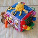 Crochet educational cube Fine motor skills, Soft block, development
