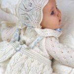 Child Knitting Patterns Taufkleid mit Spitzen