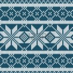 Knitted sweater design. Seamless knitting pattern with blue color Stock  Vector - 50663077