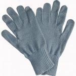 Strickhandschuhe THW Wolle grau
