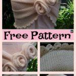 Beautiful Knit Rose project – Free Patterns #freeknittingtpattern #rose  #capelet #homedecor
