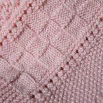 Babydecken aus Merinowolle, handgestrickt, Swiss Made