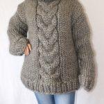 4-5 kg Turtleneck sweater gotland wool super thick sweater 100