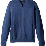 Nautica Men's Long Sleeve Full Zip Bomber Sweater, Dark Anchor