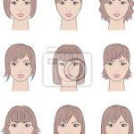 Sticker Vektor-Illustration der Frauen-Gesichter. Verschiedene Frisuren