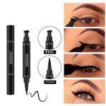 Großhandel Dual End Black Liquid Eyeliner Pencil Pro Wasserdichtes  Langanhaltendes Makeup Eyeliner Pen + Cat Line Eye Makeup Schablonen Von  Hollysales,