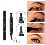 2018 katze liner make-up Dual End Black Liquid Eyeliner Pencil Pro  Wasserdichtes Langanhaltendes Makeup