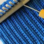 Loom Knit Stitch Pattern The Farrow Rib Stitch with Video Tutorial Beginner  Easy