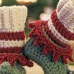 Häkeln Sie Muster, Häkeln Sie Booties Muster, Häkeln Sie Weihnachtsmuster,  Elf ..