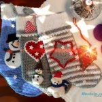 Unbedingt ansehen! Nikolaus Stiefel gehäkelt Anleitung Häkeln Weihnachten. # häkeln #crochet #christmasstocking #nikolaus #stiefel #weihnachten
