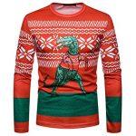 FRAUIT Weihnachten Herren Spoof Druck Pullover Hemd Strickpullover Ugly  Christmas Sweater Neuheit Dinosaurier Faultier Katze Strickmuster