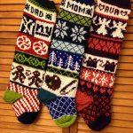 Ravelry: Rustic Fair Isle Christmas Stockings by Lindsay Goodall  Weihnachtsstrumpf Muster, Gestrickte Weihnachtsstrümpfe,