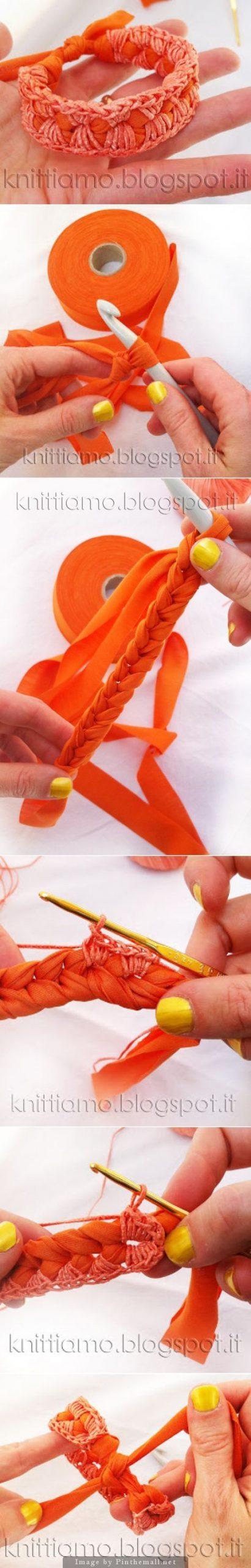 плетение  браслета