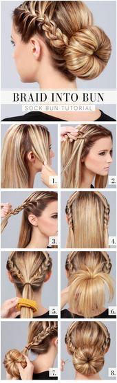 長い髪のための11の素晴らしい日常のヘアスタイル   – Neueste…