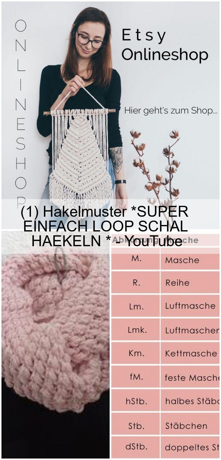 (1) Hakelmuster *SUPER EINFACH LOOP SCHAL HAEKELN * – YouTube,  #einfach #HAEKELN #Häkelmuste…
