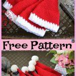 10 Crochet Christmas Hats - Free Patterns