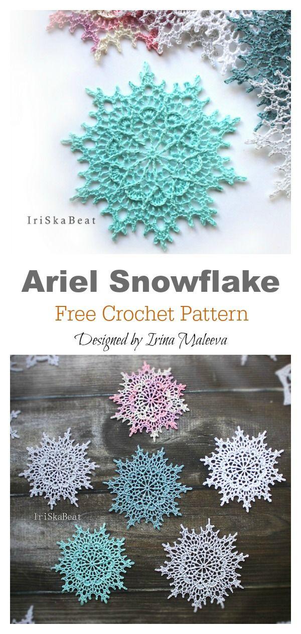 10 Snowflake Christmas Ornaments Free Crochet Pattern