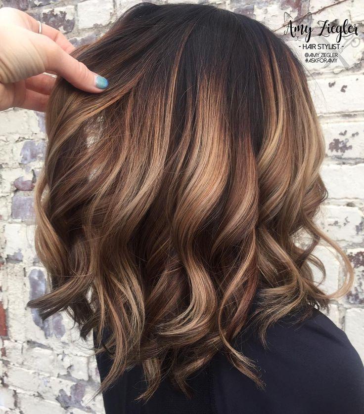 10 Trendy Brown Balayage Hairstyles for Medium-Length Hair 2020