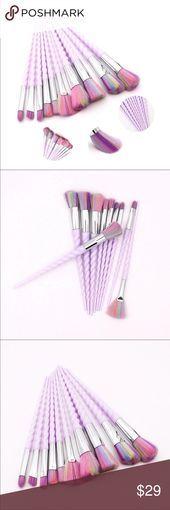 10 pcs Makeup Brushes Set Professional Make-up Brushes Set 10 pcs Handle Materi