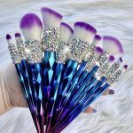 12 Blue Unicorn Makeup Brushes Handmade Makeup #blue #Box #Bridesmaid #brush... - FİTNESS WORKOUTS