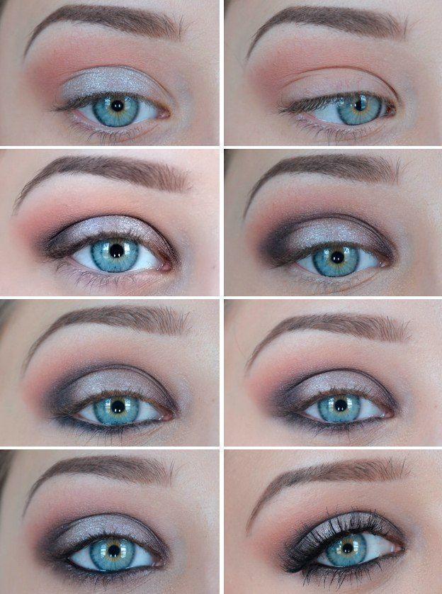 12 Incredible Makeup Tutorials For Blue Eyes #makeuptutorialforbeginners #eye #e…