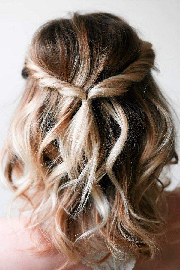 12 latest wedding hairstyles for medium length hair